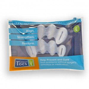 Correct Toes silicone toe spacers; Size Large, fits most Men Size US 11.5 +, EU 45+.